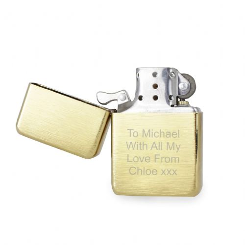 Personalised Golden Brushed Lighter